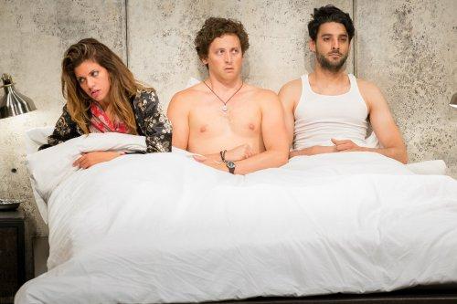 "Alia Attallah, Quinn Franzen and Karan Oberoi in a scene from ""Threesome""(Photo credit: Hunter Canning)"