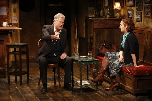 "Paul O'Brien and Amanda Quaid in a scene from ""The Weir"" (Photo credit: Carol Rosegg)"
