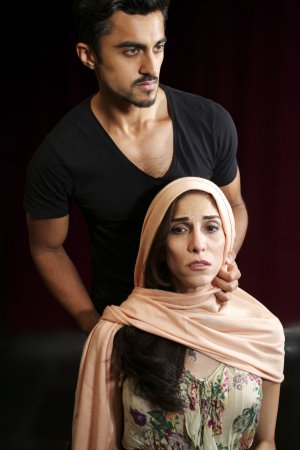 "Gopal Divan and Pooya Mohseni in a scene from ""Death of the Persian Prince"" (Photo credit: John Capo Public Relations)"