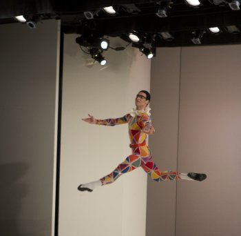 """Gonzalo Garcia in a scene from Balanchine's """"Harlequinade"""" (Photo credit: Works & Process at the Guggenheim/Jacklyn Meduga)"""