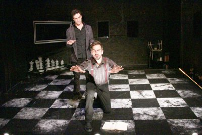"""David Siciliano and Sean Borderes in a scene from """"The Black Book"""" (Photo credit: Andrew Zeiter)"""