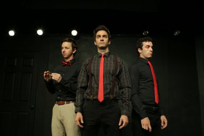 "Gabe Templin, Sean Borderes and David Siciliano in a scene from ""The Black Book"" (Photo credit: Andrew Zeiter)"