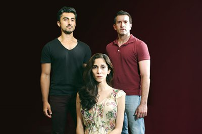 "Gopal Divan, Pooya Mohseni and George Faya in a scene from ""Death of the Persian Prince"" (Photo credit: John Capo Public Relations)"