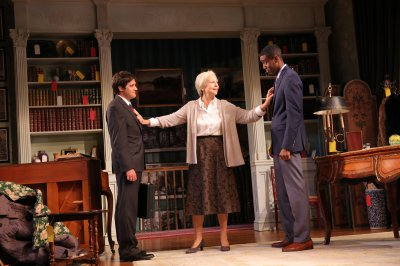 "Joe Paulik, Maureen Anderman and Gabriel Brown in a scene from A.R Gurney's ""Love & Money"" (Photo credit: Joan Marcus)"