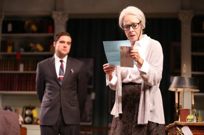 "Joe Paulik and Maureen Anderman in a scene from A.R Gurney's ""Love & Money""  (Photo credit: Joan Marcus)"