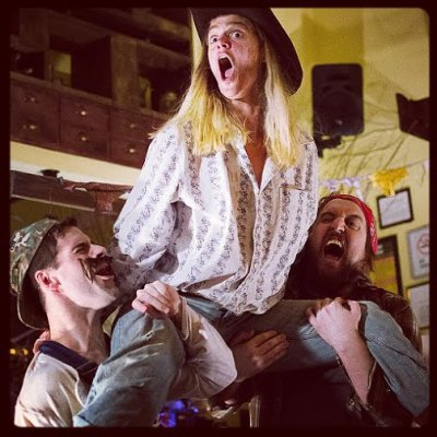 """John Egan as Jake, Katie Melby as Jimmy Gallagher and Ben Lewis as Joe in a scene from """"Rise and Fall"""" (Photo credit: Rowan Douglas)"""