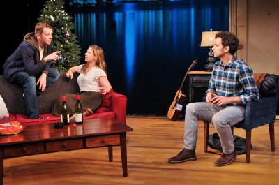"Nick Westrate, Miriam Silverman and Matt Dallapina in a scene from ""a Delicate Ship"" (Photo credit: Jenny Anderson)"