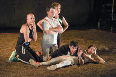 "Mark Bedard, Sean McCall, Nance Williamson, Jason O'Connell and Joey Parsons in a scene from ""A Midsummer Night's Dream"" (Photo credit: Russ Rowland)"