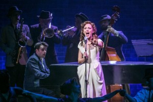Laura Osnes and Corey Cott in The Bandstand. Photo by J. Piano Singer