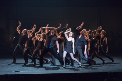 "Bebe Neuwrith and ensemble in ""All That Jazz"" from ""Chicago"" (Photo credit: Richard Termine)"