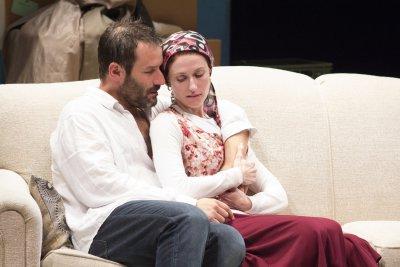 "Ian Kahn and Victoria Mack in a scene from ""Hard Love"" (Photo credit: Clark Kim)"