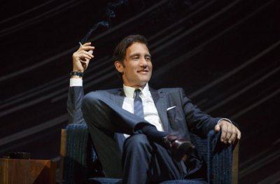 """Clive Owen in a scene from Harold Pinter's """"Old Times"""" (Photo credit: Joan Marcus)"""