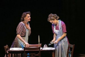 Beth Leavel and Laura Osnes in The  Bandstand.  Photo by Jerry Dalia