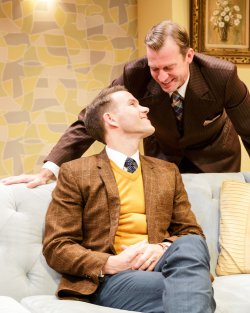 """Christopher J. Hanke and Robert Eli in a scene from """"Perfect Arrangement"""" (Photo credit: James Leynse)"""