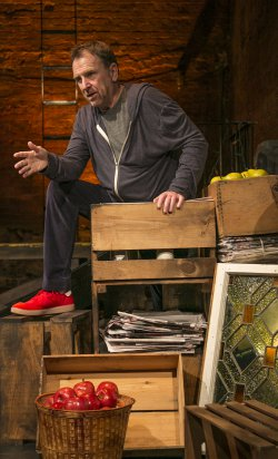 "Colin Quinn in a scene from ""The New York Story"" (Photo credit: Mike Lavoie)"