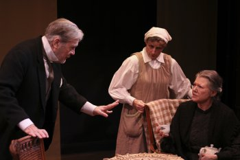 "John D. McNally, Florence Marcisak and Sidney Fortner in a scene from ""Alison's House"" (Photo credit: Bradley Coleman)"