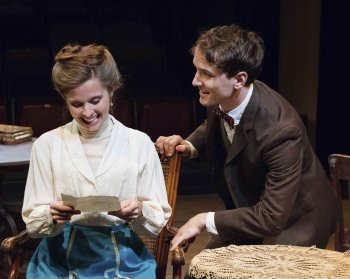 "Meredith M. Sweeney and Paul Herbig in a scene from ""Alison's House"" (Photo credit: Joseph Siebert)"