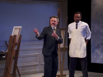 "David Greenspan and Alvin Keith in a scene from David Pinski's ""Professor Brenner"" (Photo credit: Joel Abbott)"