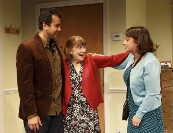 """Daoud Heidami, Marylouise Burke and Rachel Dratch in a scene from """"Ripcord"""" (Photo credit: Joan Marcus)"""