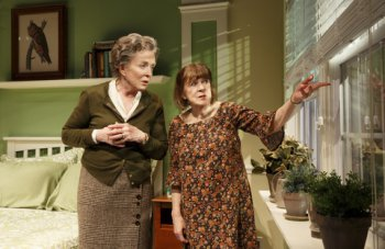 """Holland Taylor and Marylouise Burke in a scene from """"Ripcord"""" (Photo credit: Joan Marcus)"""