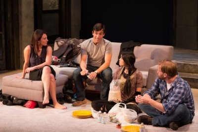 """Jolie Curtsinger, Jake Robards, Kim Wong and Zachary Clark in a scene from """"Promising"""" (Photo credit: Michael Cinquino)"""