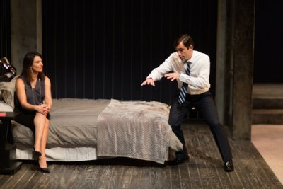 """Jolie Curtsinger and Jake Robards in a scene from """"Promising"""" (Photo credit: Michael Cinquino)"""