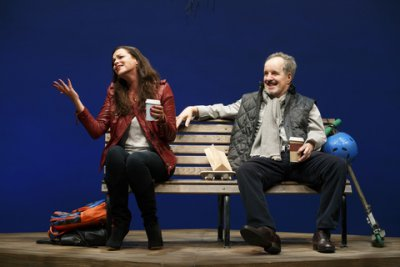 "Tammy Blanchard and John Pankow in a scene from ""Dada Woof Papa Hot"" (Photo credit: Joan Marcus)"