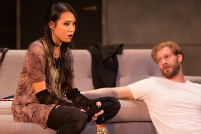"""Kim Wong and Zachary Clark in a scene from """"Promising"""" (Photo credit: Michael Cinquino)"""