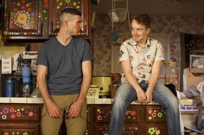 "Cameron Scroggins and Tom Phelan in a scene from ""Hir"" (Photo credit: Joan Marcus)"