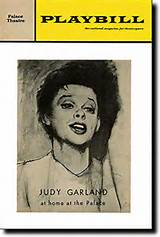 Playbill for Judy Garland at the Palace