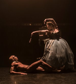 """Devon Rainey and Laura Careless in a scene from Company XIV's """"Nutcracker Rouge"""" (Photo credit: Mark Selby Perry)"""