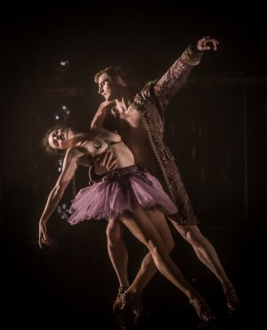 """Laura Careless and Steven Trumon Gray in a scene from Company XIV's """"Nutcracker Rouge""""(Photo credit: Mark Selby Perry)"""
