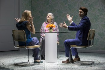 "Lisa Emery, Lois Smith and Noah Bean in a scene from ""Marjorie Prime"" (Photo credit: Jeremy Daniel)"