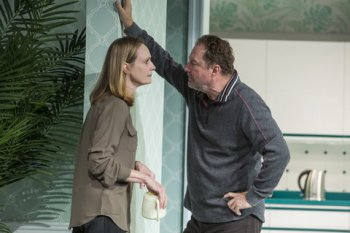 "Lisa Emery and Stephen Root in a scene from ""Marjorie Prime"" (Photo credit: Jeremy Daniel)"