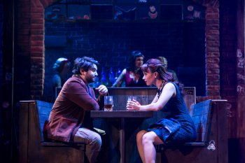 """Alex Brightman and Sierra Boggess in a scene from """"School of Rock - The Musical"""" (Photo credit: Matthew Murphy)"""