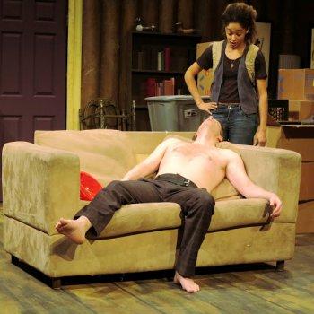 "Joe Casey and Becca Fox in a scene from ""Allen Wilder 2.0"" (Photo credit: Farnaz Taherimotlagh)"