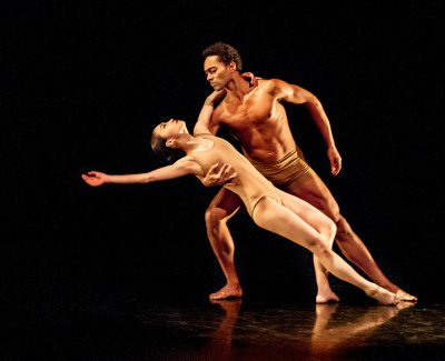 "Xiao Chuan Xie and Abdiel Jacobsen in Martha Graham ""Pagarlova Variation"" (Photo credit: Brigid Pierce)"
