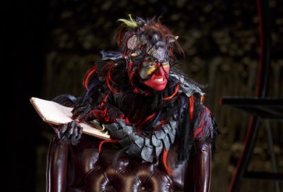 "Shiloh Goodin as Toadpipe in a scene from ""The Screwtape Letters"" (Photo credit: Joan Marcus)"