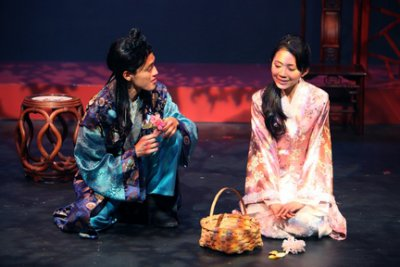 """Vichet Chum and Kelsey Wang in a scene from Pan Asian Repertory Theatre's production of """"A Dream of Red Pavilions"""" (Photo credit: George Quincey Lee)"""