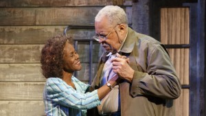 Cicely Tyson and James Earl Jones in D.L. Coburn's THE GIN GAME, directed by Leonard Foglia. The production is playing through January 10, 2016 at the Golden Theatre (252 West 45th Street). © Joan Marcus