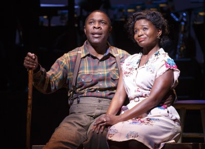 "Michael Potts and La Chanze in a scene from ""Cabin in the Sky"" (Photo credit: Joan Marcus)"