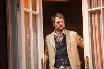 """Danila Kozlovskiy as Lopakhin in a scene from The Maly Drama Theatre of St. Petersburg's production of """"The Cherry Orchard"""" (Photo credit: Stephanie Berger)"""