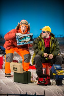 "Mark Rylance and Jim Lichtscheidl in a scene from ""Nice Fish (Photo credit: Teddy Wolff)"