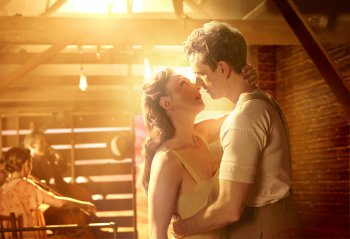 """Carmen Cusack and Paul Alexander Nolan in a scene from """"Bright Star""""(Photo credit: Nick Stokes)"""