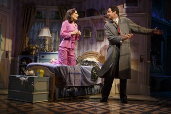 """Laura Benanti and Zachary Levi in a scene from """"She Love Me"""" (Photo credit: Joan Marcus)"""