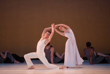 """Joshua Guillemot-Rodgerson and Mikaela Kelly in a scene from Paul Taylor's """"Roses"""" (Photo credit: Rosalie O'Connor)"""
