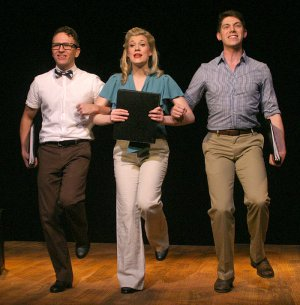"""Courter Simmons, Lauren Nicole Chapman and Justin Schuman in a scene from Musicals Tonight!'s revival of Rodgers and Hart's """"Babes in Arms"""" (Photo credit: Michael Portantiere)"""