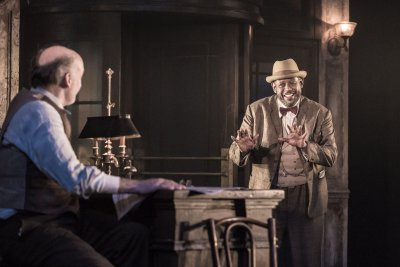 """Frank Wood and Forest Whitaker in a scene from Eugene O'Neill's """"Hughie"""" (Photo credit: Marc Brenner)"""