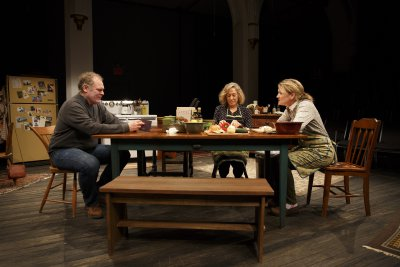 """Jay O. Sanders, Meg Gibson and Lynn Hawley in a scene from """"Hungry"""" (Photo credit: Joan Marcus)"""