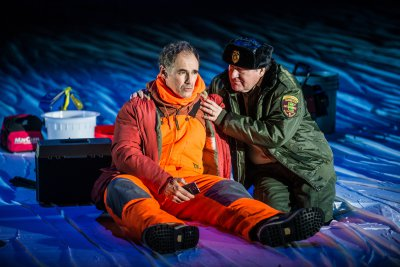 "Mark Rylance and Bob Davis in a scene from ""Nice Fish (Photo credit: Teddy Wolff)"